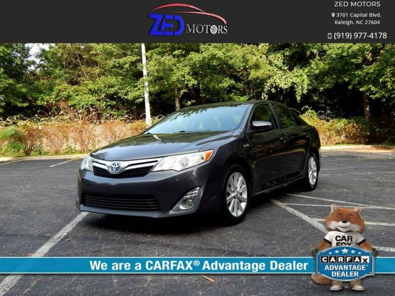 2012 Toyota Camry Hybrid for sale at Zed Motors in Raleigh NC