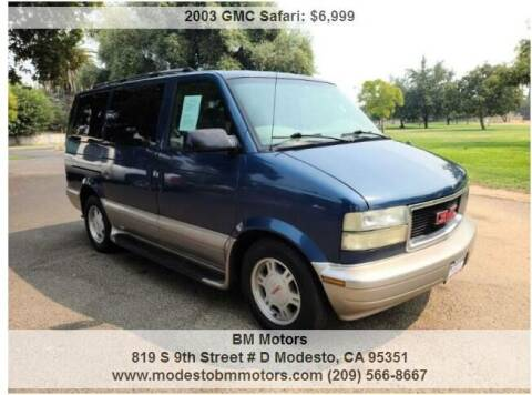 2003 GMC Safari for sale at BM Motors in Modesto CA