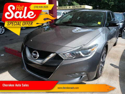 2017 Nissan Maxima for sale at Cherokee Auto Sales in Acworth GA