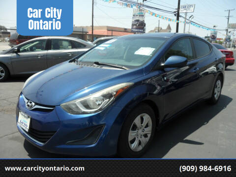 2016 Hyundai Elantra for sale at Car City Ontario in Ontario CA