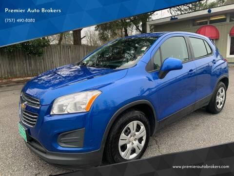 2015 Chevrolet Trax for sale at Premier Auto Brokers in Virginia Beach VA