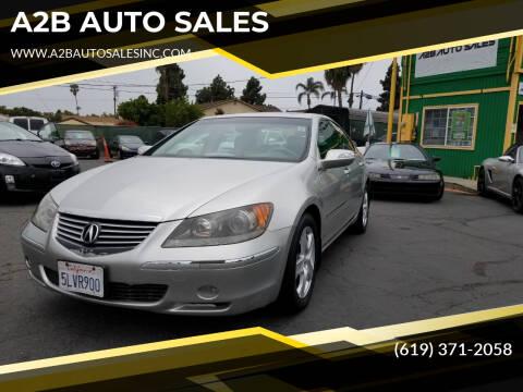 2005 Acura RL for sale at A2B AUTO SALES in Chula Vista CA