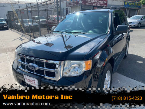 2008 Ford Escape for sale at Vanbro Motors Inc in Staten Island NY