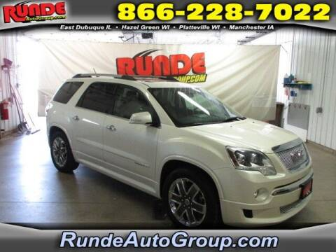 2011 GMC Acadia for sale at Runde PreDriven in Hazel Green WI