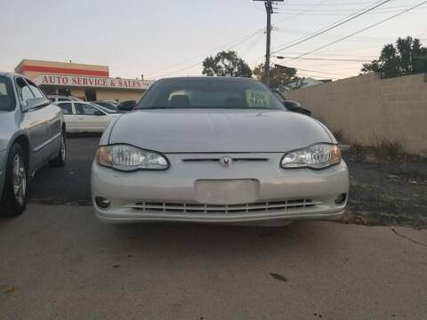 2003 Chevrolet Monte Carlo for sale at Used Car Company in Mt. Clemens...We Finance Everyone MI