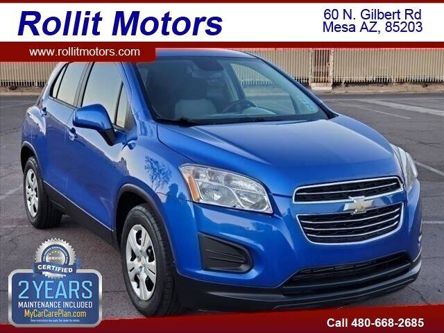 2016 Chevrolet Trax for sale at Rollit Motors in Mesa AZ