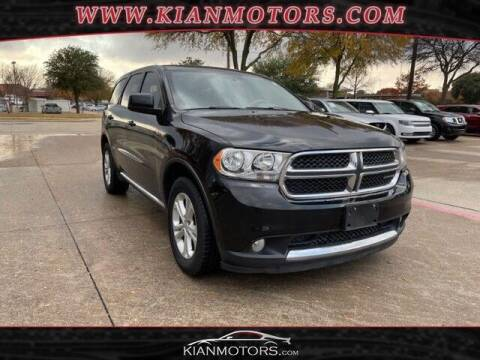 2012 Dodge Durango for sale at KIAN MOTORS INC in Plano TX