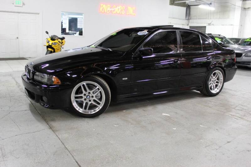 2001 BMW 5 Series for sale at R n B Cars Inc. in Denver CO
