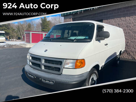 2002 Dodge Ram Cargo for sale at 924 Auto Corp in Sheppton PA
