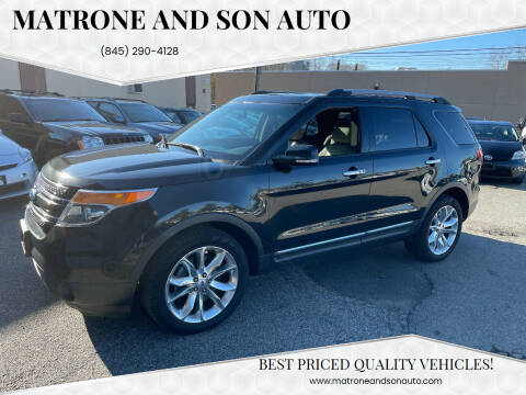 2013 Ford Explorer for sale at Matrone and Son Auto in Tallman NY