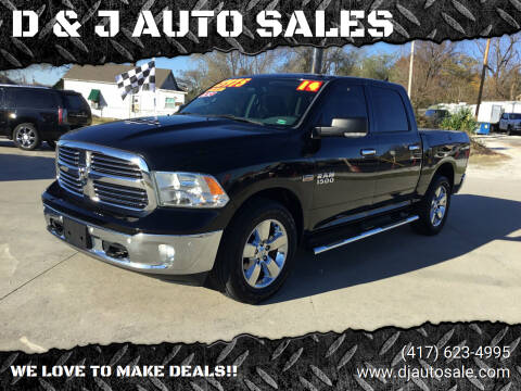 2014 RAM Ram Pickup 1500 for sale at D & J AUTO SALES in Joplin MO