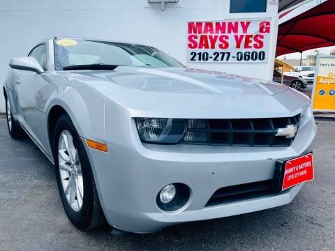 2013 Chevrolet Camaro for sale at Manny G Motors in San Antonio TX