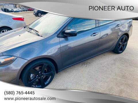 2016 Dodge Dart for sale at Pioneer Auto in Ponca City OK