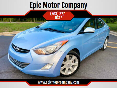2012 Hyundai Elantra for sale at Epic Motor Company in Chantilly VA