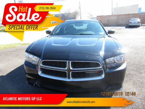 2013 Dodge Charger for sale at ATLANTIC MOTORS GP LLC in Houston TX