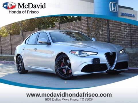 2017 Alfa Romeo Giulia for sale at DAVID McDAVID HONDA OF IRVING in Irving TX