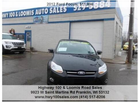2012 Ford Focus for sale at Highway 100 & Loomis Road Sales in Franklin WI