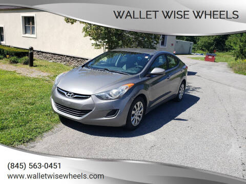2013 Hyundai Elantra for sale at Wallet Wise Wheels in Montgomery NY