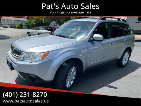 2012 Subaru Forester for sale at Pat's Auto Sales in Johnston RI