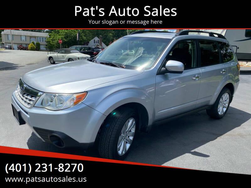 2012 Subaru Forester for sale at Pat's Auto Sales in Johnston RI