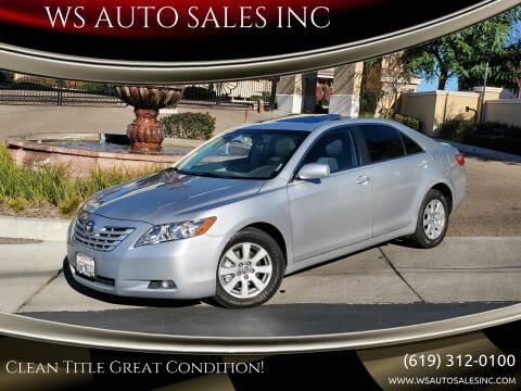2009 Toyota Camry for sale at WS AUTO SALES INC in El Cajon CA