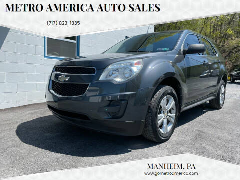 2010 Chevrolet Equinox for sale at METRO AMERICA AUTO SALES of Manheim in Manheim PA