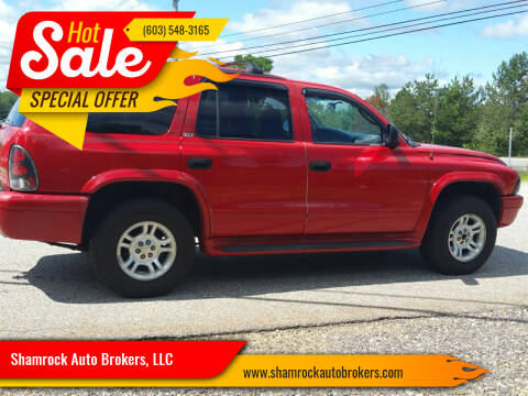 2002 Dodge Durango for sale at Shamrock Auto Brokers, LLC in Belmont NH