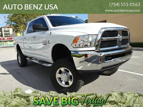 2018 RAM Ram Pickup 2500 for sale at AUTO BENZ USA in Fort Lauderdale FL