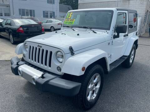 2015 Jeep Wrangler for sale at Quincy Shore Automotive in Quincy MA