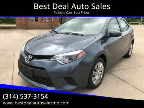 2014 Toyota Corolla for sale at Best Deal Auto Sales in Saint Charles MO