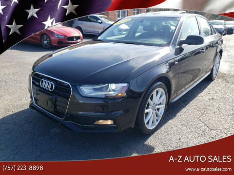 2014 Audi A4 for sale at A-Z Auto Sales in Newport News VA