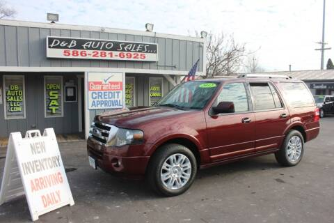 2012 Ford Expedition for sale at D & B Auto Sales LLC in Washington Township MI