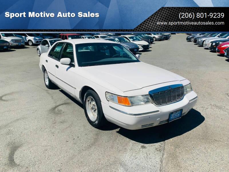 2000 Mercury Grand Marquis for sale at Sport Motive Auto Sales in Seattle WA
