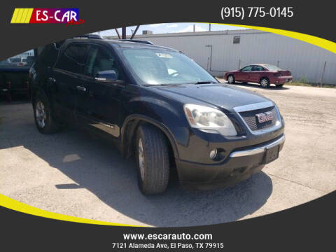 2008 GMC Acadia for sale at Escar Auto in El Paso TX