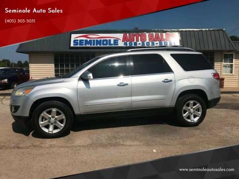 2009 Saturn Outlook for sale at Seminole Auto Sales in Seminole OK