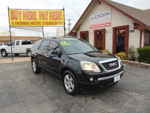 2012 GMC Acadia for sale at Crown Used Cars in Oklahoma City OK