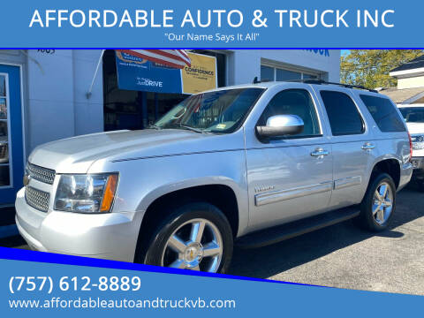 2012 Chevrolet Tahoe for sale at AFFORDABLE AUTO & TRUCK INC in Virginia Beach VA