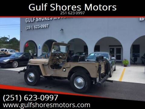 1952 Jeep Willys for sale at Gulf Shores Motors in Gulf Shores AL
