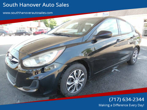 2013 Hyundai Accent for sale at South Hanover Auto Sales in Hanover PA