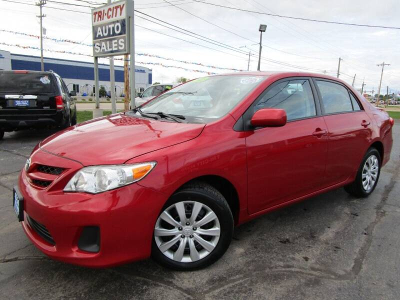 2012 Toyota Corolla for sale at TRI CITY AUTO SALES LLC in Menasha WI