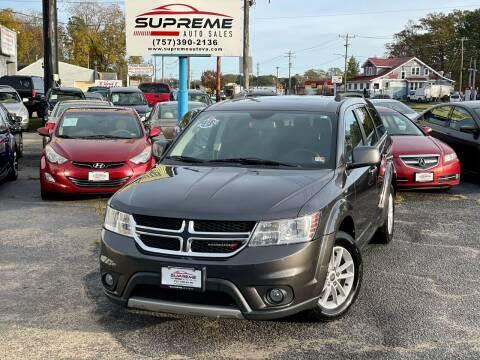 2014 Dodge Journey for sale at Supreme Auto Sales in Chesapeake VA