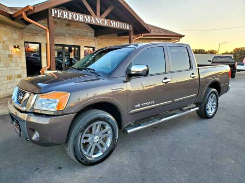 2014 Nissan Titan for sale at Performance Motors Killeen Second Chance in Killeen TX