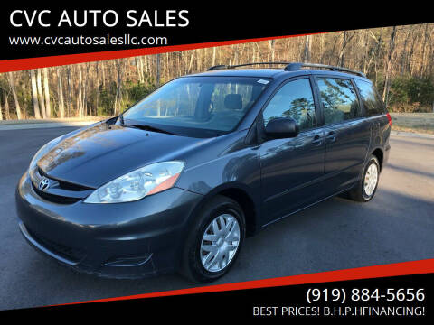 2007 Toyota Sienna for sale at CVC AUTO SALES in Durham NC
