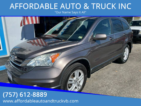 2011 Honda CR-V for sale at AFFORDABLE AUTO & TRUCK INC in Virginia Beach VA