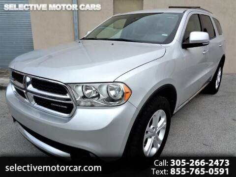 2012 Dodge Durango for sale at Selective Motor Cars in Miami FL