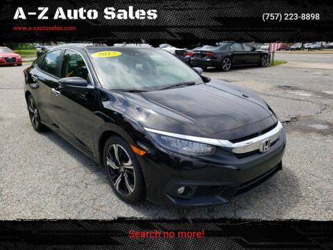 2017 Honda Civic for sale at A-Z Auto Sales in Newport News VA