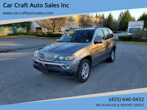 2004 BMW X5 for sale at Car Craft Auto Sales Inc in Lynnwood WA