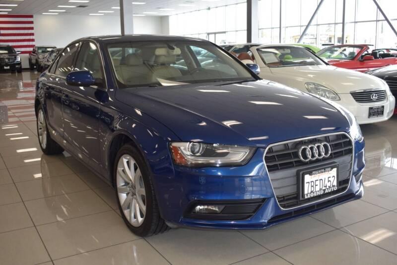 2013 Audi A4 for sale at Legend Auto in Sacramento CA