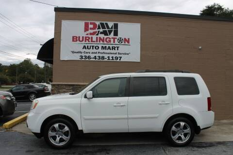 2012 Honda Pilot for sale at Burlington Auto Mart in Burlington NC