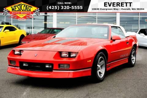 1989 Chevrolet Camaro for sale at West Coast Auto Works in Edmonds WA